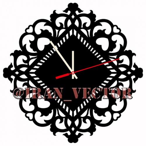دانلود الگوهای برش ساعت دکوراتیو دیواری - کد 1049 - طرح های وکتور`