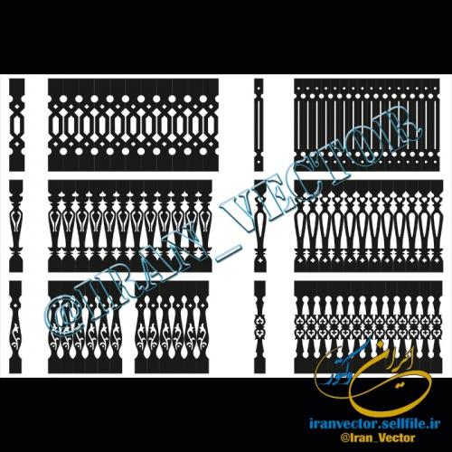 دانلود الگوهای برش نرده (دو بعدی) - کد 5026 - طرح های وکتور