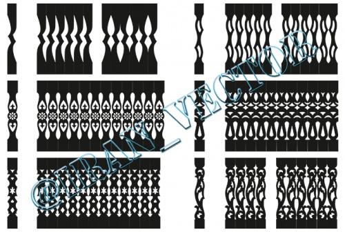 دانلود الگوهای برش نرده (دو بعدی) - کد 5027 - طرح های وکتور
