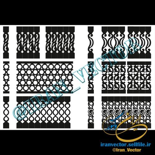 دانلود الگوهای برش نرده (دو بعدی) - کد 5028 - طرح های وکتور