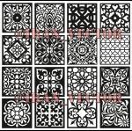 دانلود الگوهای برش پنل مشبک - کد 2141 - طرح های وکتور